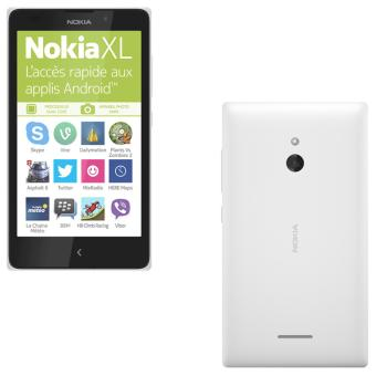 Smartphone Nokia XL, Double SIM, 4 Go, Blanc