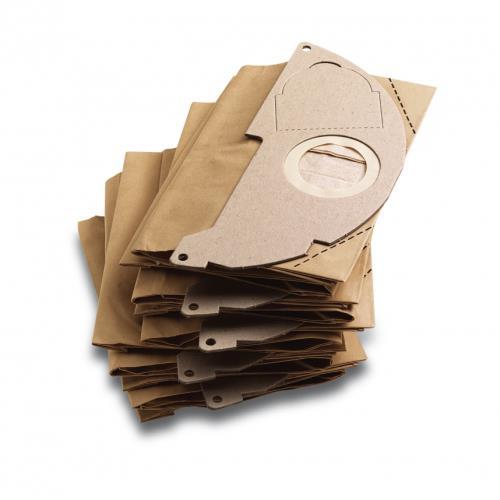 Sachet filtre en papier pour Kärcher WD2, WD 2200, 2250 5 pièces