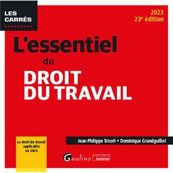 4d3b692226d L essentiel du droit du travail - 19eme edition. 2019 Une ...