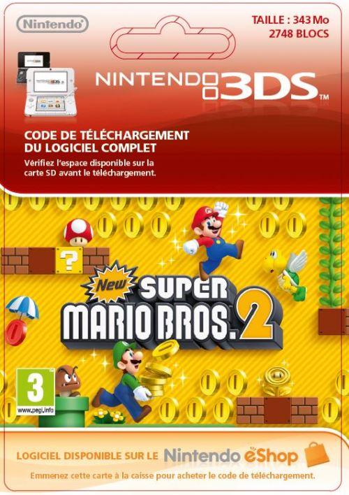 Code de téléchargement New Super Mario Bros. 2 Nintendo 3DS