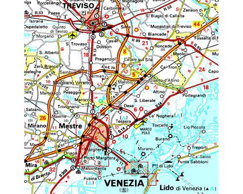 Carte Italie Nord Michelin.Carte Italie Nord Est Michelin