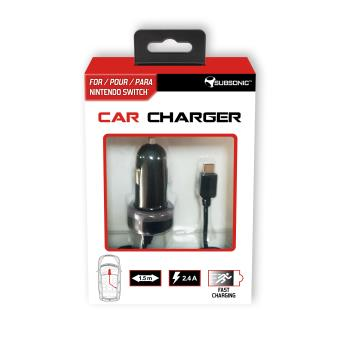 Chargeur allume-cigare Subsonic Car Charger pour Nintendo Switch