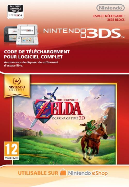 Code de téléchargement The Legend of Zelda Ocarina of Time 3D Nintendo 3DS