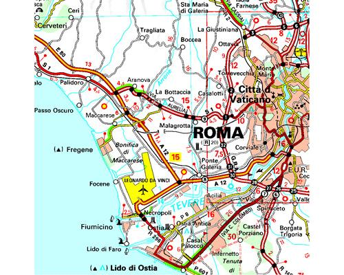 Carte Italie Michelin.Carte Italie Centre Michelin