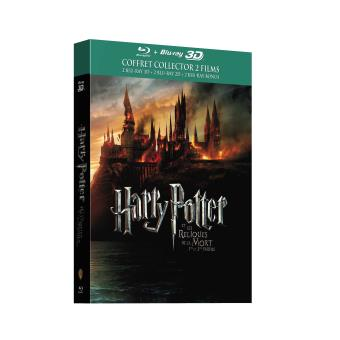 coffret harry potter et les reliques de la mort parties 1 et 2 combo blu ray 3d 2d blu ray. Black Bedroom Furniture Sets. Home Design Ideas