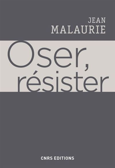 Oser, résister - 9782271120229 - 13,99 €