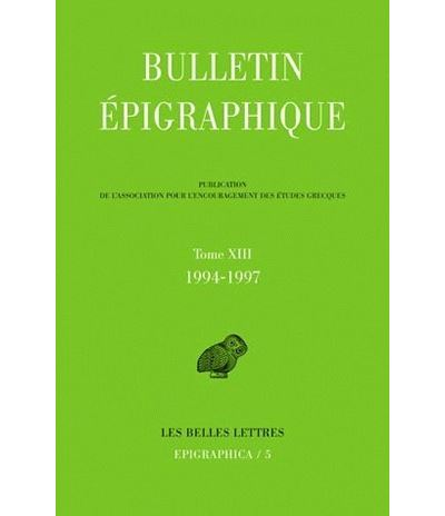 Bulletin épigraphique 1994-1997