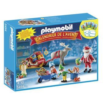 Calendrier L Avent Playmobil.Playmobil 5494 Christmas Calendrier De L Avent Atelier De Pere Noel