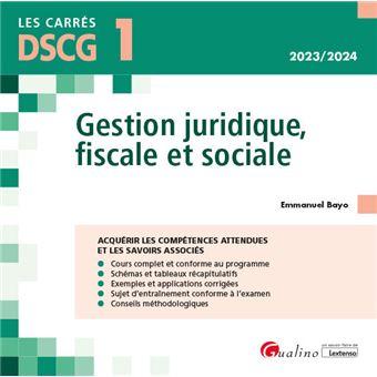 Dscg 1 - gestion juridique, fiscale et sociale