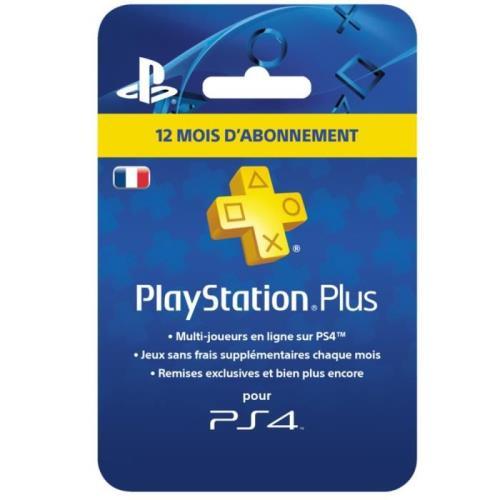 carte playstation plus 12 mois Abonnement Playstation Plus 12 Mois Sony   Accessoire console de