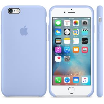 Coque en silicone Apple pour iPhone 6s Lilas