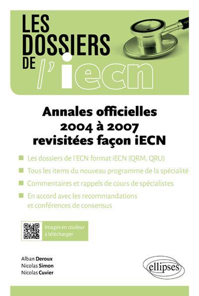 Annales officielles 2004 à 2007 revisitées facon iECN