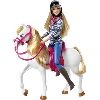 poup e barbie et son cheval poup e achat prix fnac. Black Bedroom Furniture Sets. Home Design Ideas