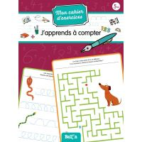 Mon cahier d'exercices (wipe and clean) - J'apprends à compter 5+