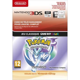 Code de téléchargement Pokémon Attrapez-les tous ! Version Cristal Nintendo 3DS