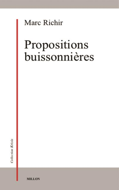 Propositions buissonnieres