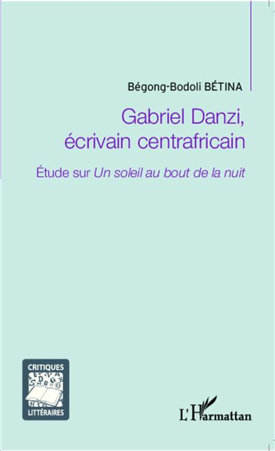 Gabriel Danzi, écrivain centrafricain