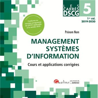 Dscg 5 - management systemes d information