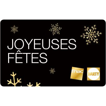 e carte cadeau fnac darty joyeuses f tes top prix fnac. Black Bedroom Furniture Sets. Home Design Ideas