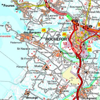 Carte Charente Charente Maritime Michelin