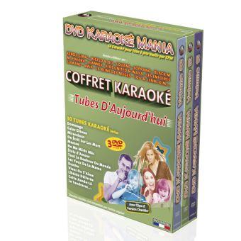 Coffret 3 DVD Karaoké Mania Tubes D'Aujourd'hui 2017 à 2019