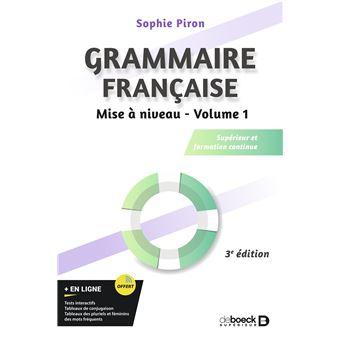 Grammaire française, Mise à niveau