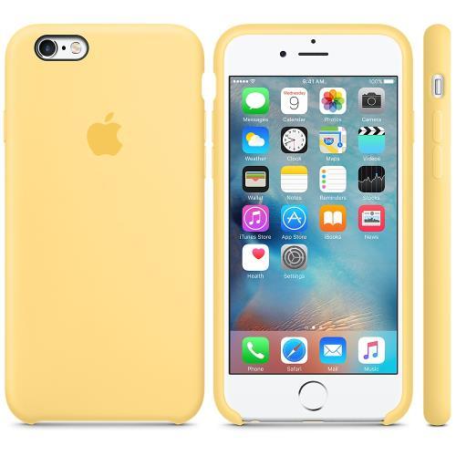 Coque en silicone Apple pour iPhone 6s Jaune