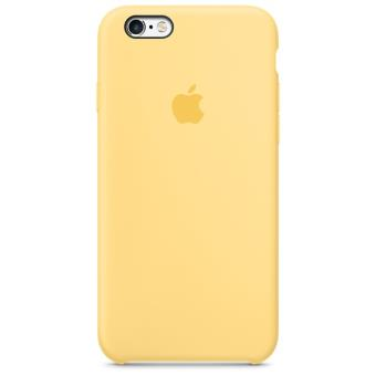coque silicone jaune iphone 6