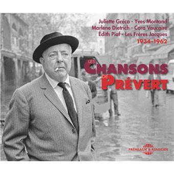CHANSONS DE JACQUES PREVERT 1934-1962/3CD
