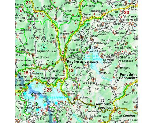 Carte Touristique Haute Vienne.Carte Creuse Haute Vienne Michelin