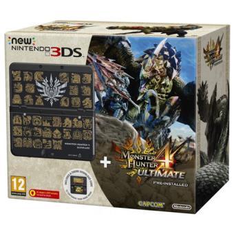 Console New Nintendo 3DS Noire + Monster Hunter 4 Ultimate Péinstallé