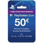 Carte prépayée Playstation Network 50 euros Sony