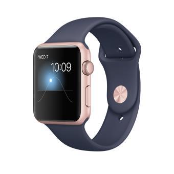 Apple Watch Series 1 42 mm Aluminium Rose met Sportband Donker Blauw