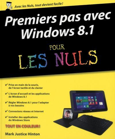 Pour les Nuls -  : Premiers pas windows 8.1 pln