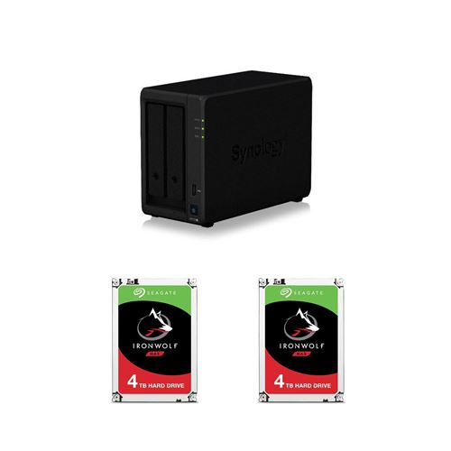 Serveur NAS Synology DiskStation DS720+ 2baies 2Go Noir +...