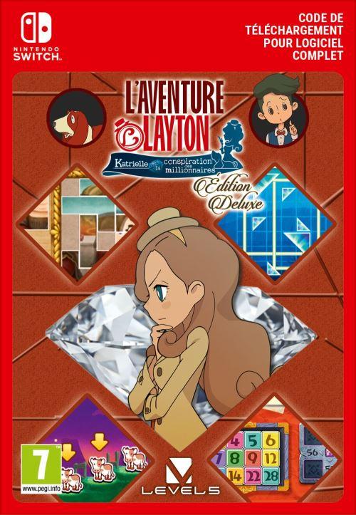 Code de téléchargement Nintendo Switch Online : L'Aventure Layton - Katrielle et la conspiration des millionnaires Edition Deluxe