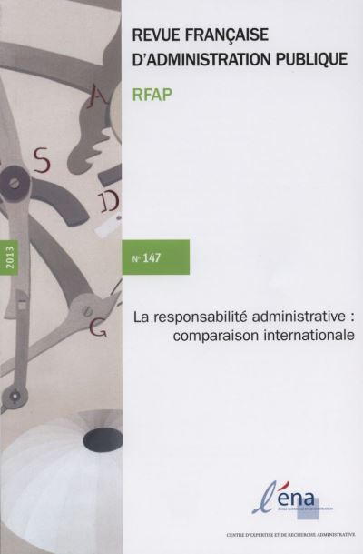 La responsabilité adminsitrative : comparasion internationale