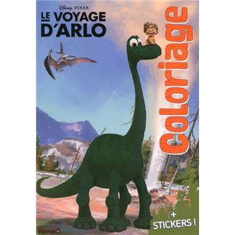 Coloriage Vrai Dinosaure.Le Voyage D Arlo The Good Dinosaur Coloriage Avec Stickers Le