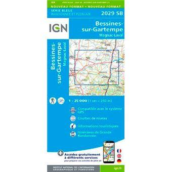 Bessines-sur-gartempe magnac-laval 1:25 000