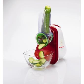 Moulinex DJ753500 Fresh Express 3-in-1-snijder, wit / rood