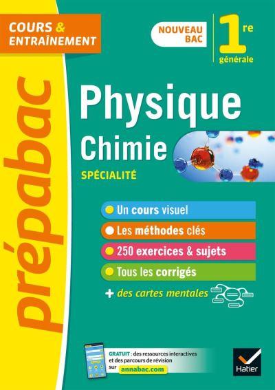 Physique-chimie 1re (spécialité) - Prépabac Cours & entraînement - nouveau programme de Première - 9782401056657 - 8,99 €