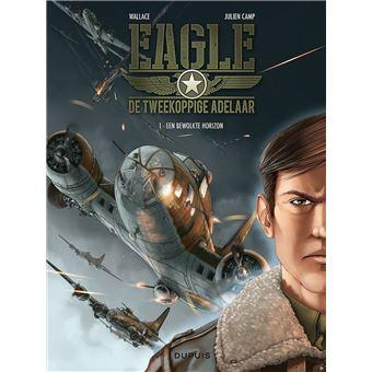 Eagle, de tweekoppige adelaar Hc01. Een bewolkte horizon