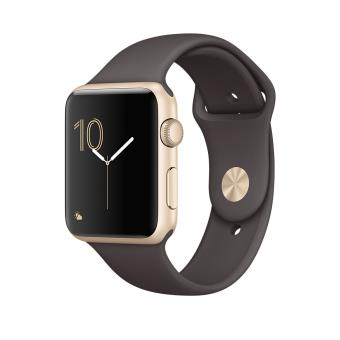 Apple Watch Series 1 42 mm Aluminium Or met Sportband Cacao