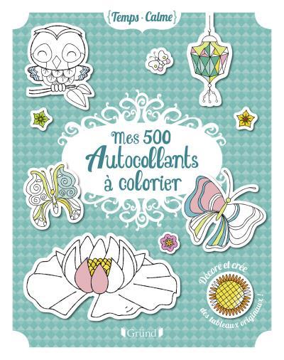 Mes 500 autocollants à colorier