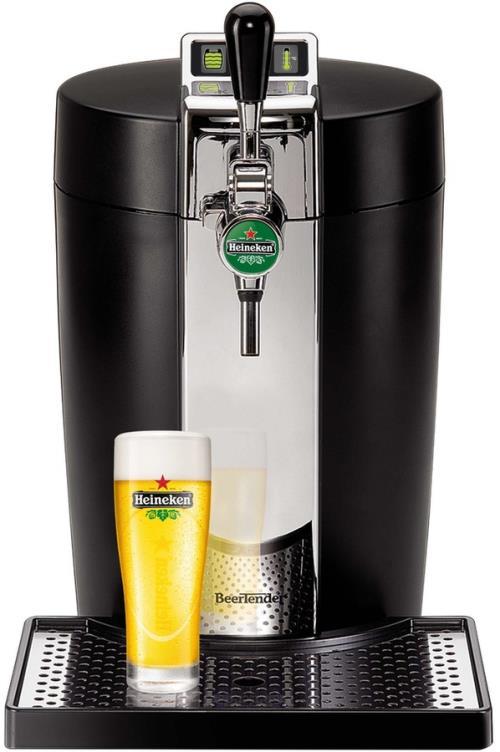 Pompe à bière Krups Beertender YY2932FD Noir et metal