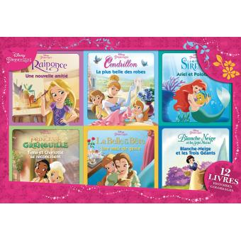 Disney Princesses 12 Volumes Princesses Coffret 12 Livres