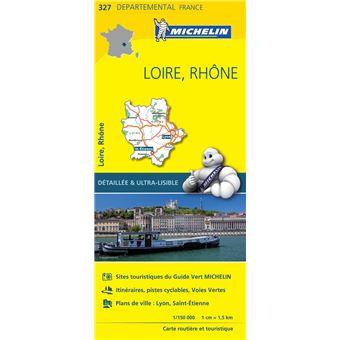 Carte Loire, Rhône Michelin