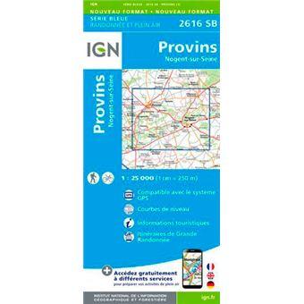 Provins nogent-sur-seine 1:25 000