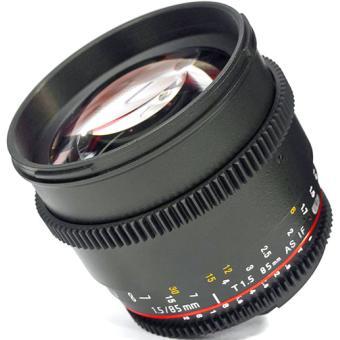 Samyang 85 mm f / 1,5 VDSLR CANON SLR-lens (VOOR VIDEO)