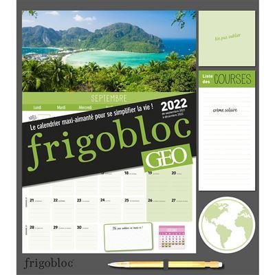 Calendrier Geo 2022 Frigobloc mensuel géo 2022   16 mois   (de sept. 2021 à déc. 2022
